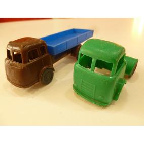 2 Camiones Antiguos Plásticos Industria Argentina.volcador