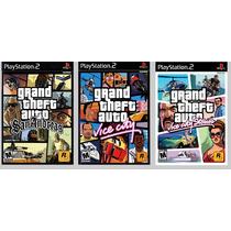 Patch Gta Coletanea 3 Jogos Para Ps2 Leia A Descrição