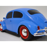 Perfeito Antigo Fusca Azul Brinquedo Pneu Borracha Volkswage