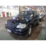 Ml 320 Sucata Para Retirada De Peças Mercedes-benz Ml320