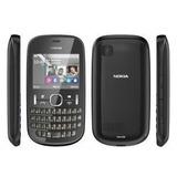 Carcaça Celular Nokia Asha 200 + Teclado Cor Preta