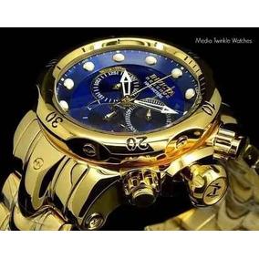 Relógio Invicta 14504 Reserve Venom Iv8 Original Azul 53mm