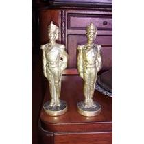Antiguas Figuras De Bronce De Granaderos