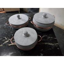 Kit Panela Pedra Sabão Direto Da Fabrica 4,5l; 3l ; 1,5l