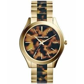7e82f9c32f1bb Michael Kors Tortoise-gold Original Com - Relógios De Pulso no ...