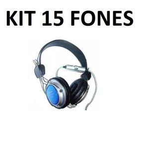 Kit Com 15 Fones De Ouvido 915 Para Lan House Menor Preço