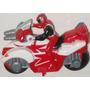Power Rangers Spd - Ranger Vermelho Na Moto - Miniatura 7cm