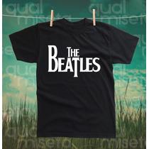 Camiseta Beatles Algodão Impressão Silk Screen