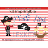 Kit Imprimible Pirata Nene Piratas Tarjetas Cumple Y Mas