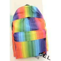 Mochila Backpack Escolar Grande Unisex Secu Multicolor E4f