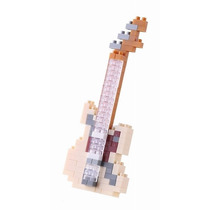 Nanoblock Guitarra Eléctrica Blanca Ivory Mini Bloques Ármal
