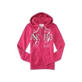 Sweter Rosado Con Capucha Talla M Aeropostale Original!!!