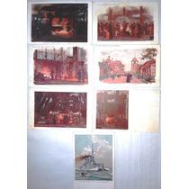Postales Antiguas Fábrica Krupp Essen Serie De 7 Pintadas