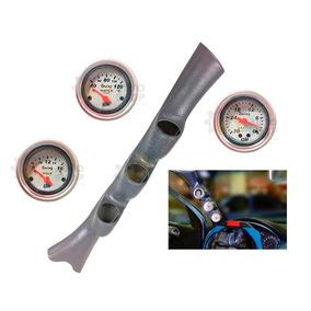Kit Coluna Tuning 3 Manômetro Relogio Medidor Led Neon Astra