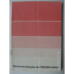 Manual Antigo Freezer Vertical Consul