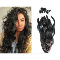 Aplique - Cabelo Humano Indiano Natural 100gr 30cm Mega Hair
