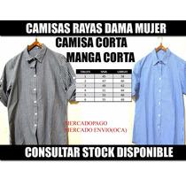Camisa Rayada Rayas Larga Corta Lisas Talles 1 Al 6