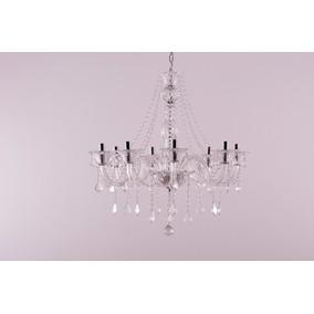Lustre Cristal Candelabro Maria Tereza 8 L Clear Xy