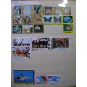 Rf83 - Selos Fauna Aves Borboletas Mamíferos Manama Lote