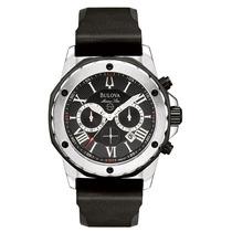 Relógio Luxo Bulova 98b127 Marinestar Orig Chron Anal Silver