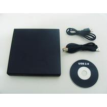 Drive Externo Slim Usb Gravador Leitor Cd E Dvd Novo + Frete