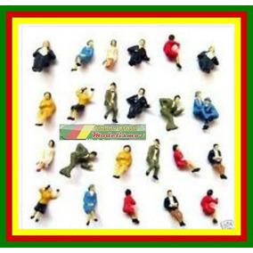 10 Figuras Humanas Sentadas Ho 1:100 Em Plástico