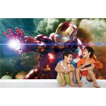 Papel Parede Revestimento Infantil Avenger Homem De Ferro M4