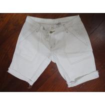 Bermuda Jeans Branca 38/40 Sem Barra C&a