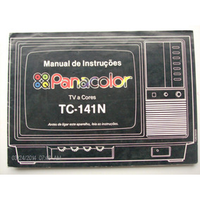 Manual Antigo Televisor A Cores Panacolor National