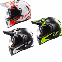 Casco Cross Ls2 Mx436 Trigger Pioneer Doble Visor Motodelta