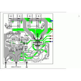 Esquema Inversor Senoidal 12 E 24 Volts 1500 A 5000va Trafo