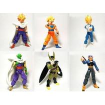 Kit 6 Bonecos Dragon Ball Articulados Action Figures Anime