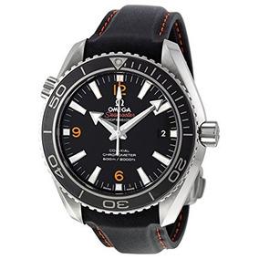 Negro Del Reloj Auto Viento Seamaster Planet Ocean Analóg