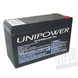 Kit C/ 02pcs Bateria Selada 12v 7ah Unipower Up1270seg Alarm