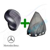 Bola Manopla Cambio Mercedes Classe A Cinza Ano 2002 + Coifa