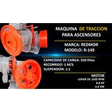 Maquina De Traccion Para Ascensores Marca Redmor Modelo R149