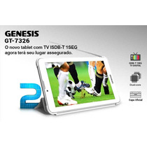 Tablet Genesis Gt7326 Tv Celular 2 Chips Gps 3g Wi-fi C/capa