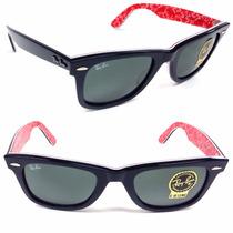 Anteojos De Sol Ray Ban Wayfarer 2140 Gafas Lentes Italia
