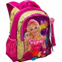 Mochila Escolar Costas (g) Barbie Portal Secreto Dourada