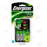 Cargador Energizer + 4 Baterias Aa Recargables Pilas Xtreme