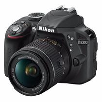 Camara Profesional Nikon D3300 24.2 Mp Lente 18 55mm 64gb Sd