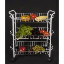 Carro Organizador De Frutas Y Verduras Blanco
