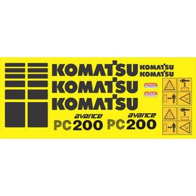 Kit Adesivos Komatsu Pc200-6
