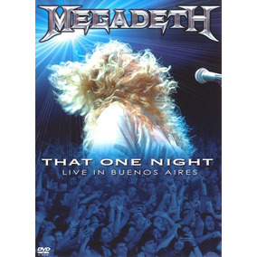 Megadeth That One Night Live In Buenos Aires Dvd Nuevo