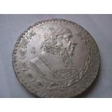 Moneda 1 Pesos Año 1966 0.1 Plata