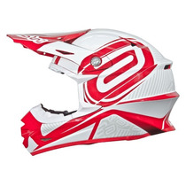 Capacete Asw Concept (imp.) Branco/vermelho 57/58 Rs1