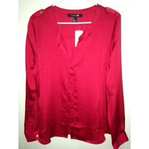Blusa Forever 21 Roja L Moda Fashion Ultima Original