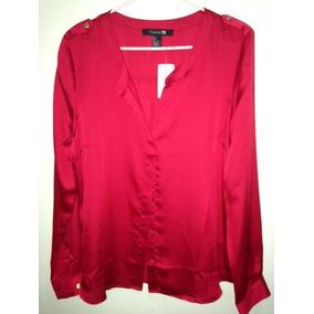 Blusa Forever 21 Roja L Moda Fashion Ultima Original