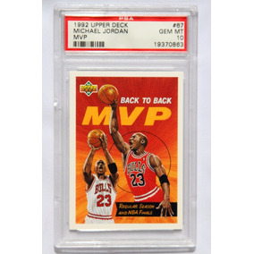 Michael Jordan Tarjeta Psa 1992 Upper Deck Mvp Grado Gem 10