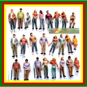 10 Figuras Humanas Em Pé 1:43 Plástico